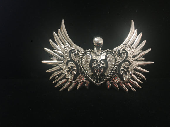 Large Silver Winged Pendant (PHWS)