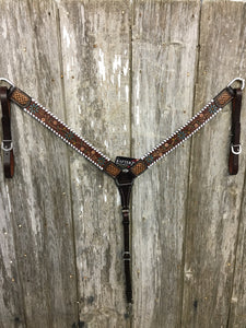 Rafter T Ranch Floral Vine Breastcollar (BC6104)