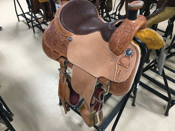 Light Oil Roper Saddle (58-19)
