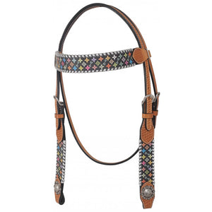 Rafter T Multi-Color Browband Headstall (BB3576)