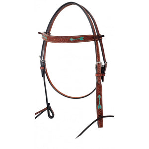 Rafter T Turquoise Arrow Browband Headstall (BB3567)
