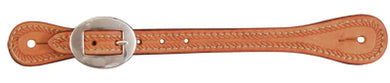 Light Oil Spur Straps with Rope Tooled Border