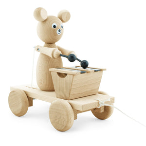 Wooden Pull-Along Bear - Baxter