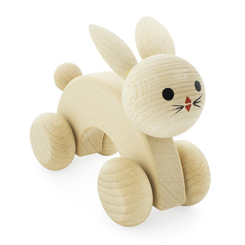 Wooden Push Along Rabbit - Ace