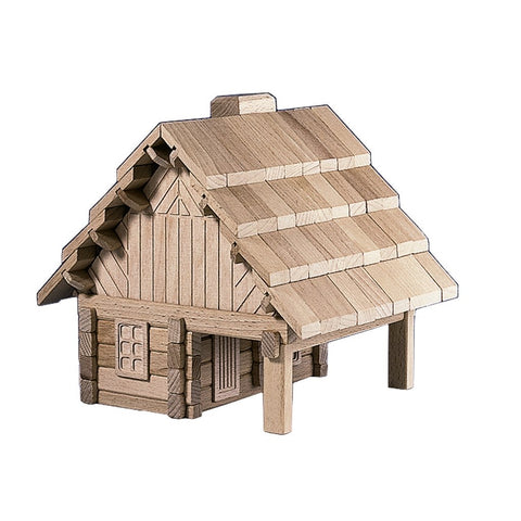Wooden Building Puzzle - The Cabin