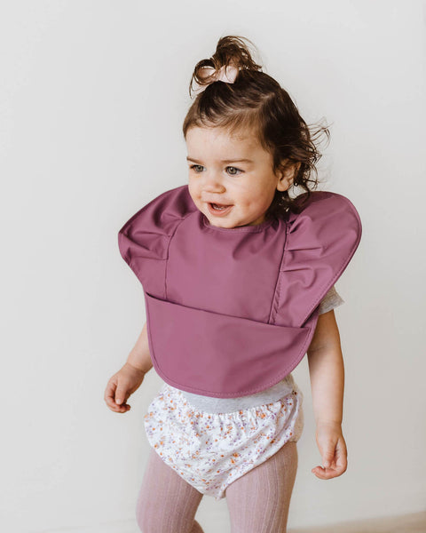 Waterproof Snuggle Bib -Mauve