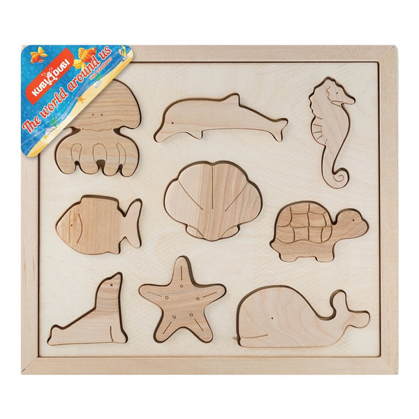 Wooden Sorting Puzzle - Sea Creatures