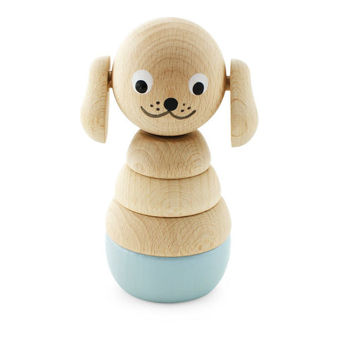 Wooden Dog Stacking Puzzle - Bella