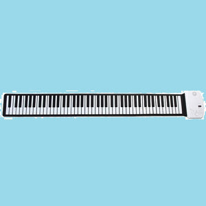 Portable 88 Keys Roll Up Piano Digital Keyboard Soft, Electronic, Recharge Battery Standard Piano Tone
