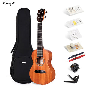 "Enya Ukulele Mahogany Wood Concert Tenor 23"" 26"" ukelele Hawaii mini guitar  Beginner Kit with Gig bag Strap Strings Tuner Capo"