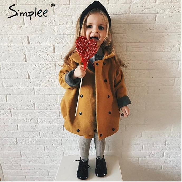 Simplee Loose Baby Girls Winter Jackets Coat Pumpkin Style Halloween Clothes Thick Warm Outerwear 2018 Novel Coat Windproof
