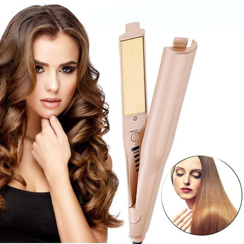 Image of 2-IN-1 Twist Straightening and Curling Iron