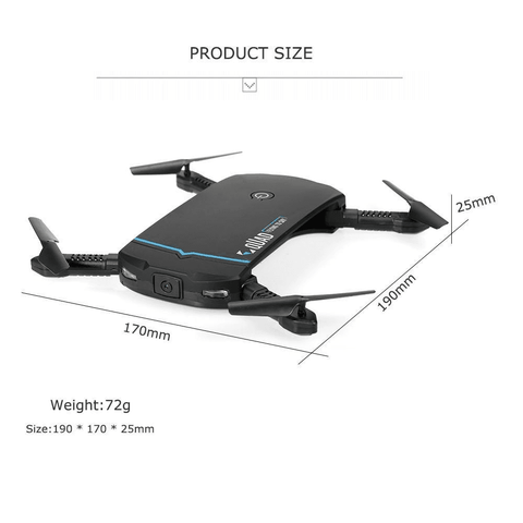 Image of RC102 WiFi FPV Foldable RC Quadcopter Drone