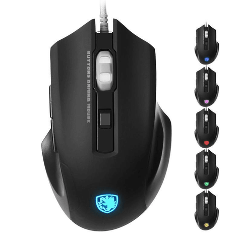 Image of 2500 DPI LED Optical Wired Gaming Mouse with 6 Buttons