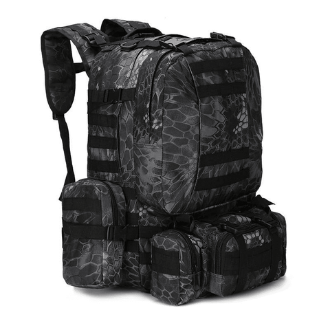 50L Water Resistant Outdoor Military Backpack