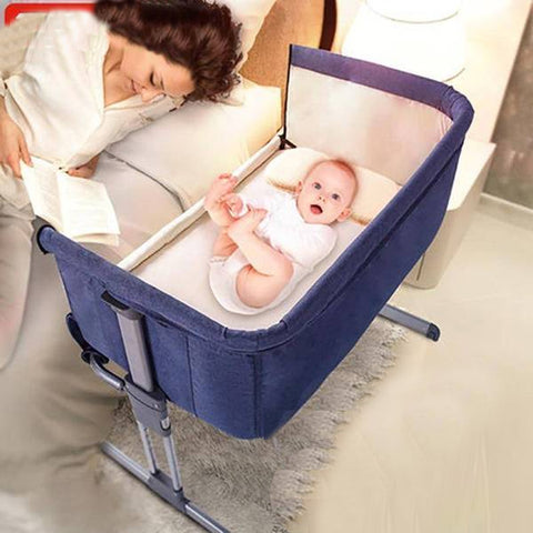 Image of Bedside Bassinet Connected to Parents