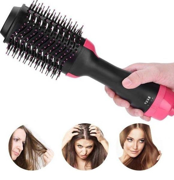 2 in 1 Rotating Hot Hair Brush Curler and Hair Dryer