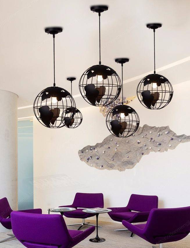 Globe Pendant Light Earth Lamp