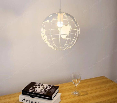 Image of Globe Pendant Light Earth Lamp