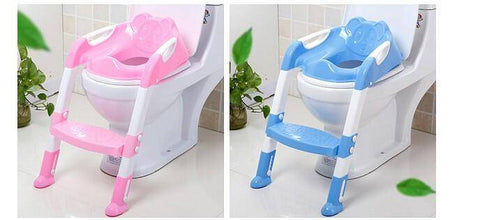 Image of Baby Potty Training Chair Folding Ladder Toilet