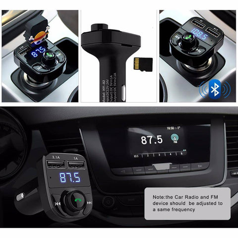 Image of All-in- One Wireless Bluetooth Car Kit