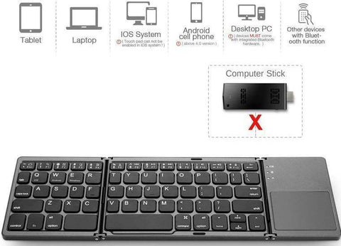 Image of Foldable Bluetooth Travel Keyboard