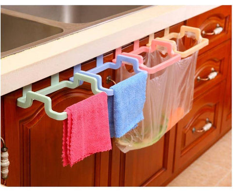 Image of Kitchen Cabinet Stand Garbage Bags Holder