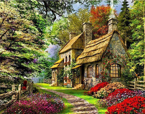 Image of Home Sweet Home DIY Painting By Number Kit