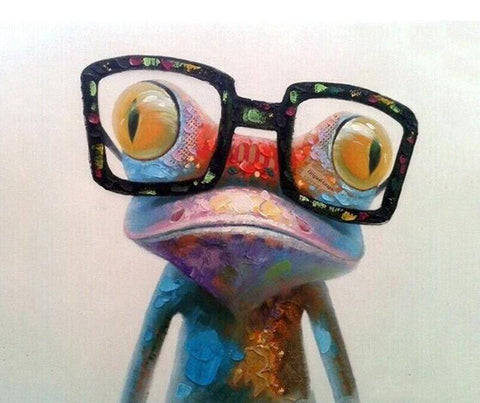 Image of Geeky Frog DIY Painting By Number Kit