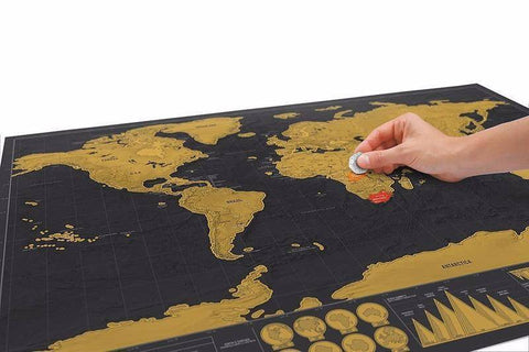 Image of Deluxe Black Scratch Off World Map