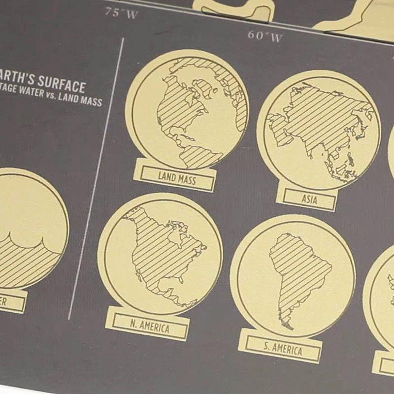 Deluxe Black Scratch Off World Map