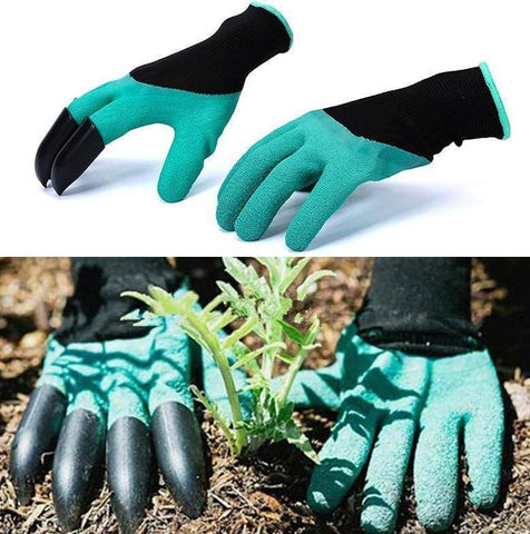 Image of Garden Gloves With Fingertips Claws