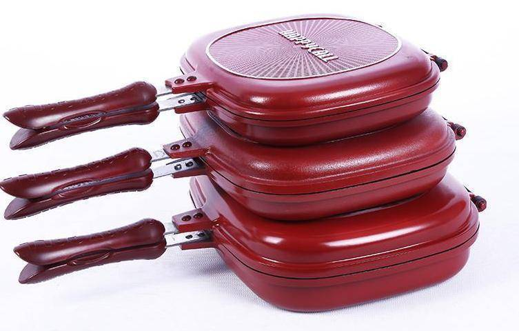 Double Sided Grill Fry Pan