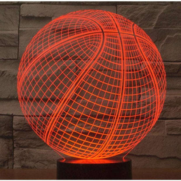 3D LED Basketball Night Lights