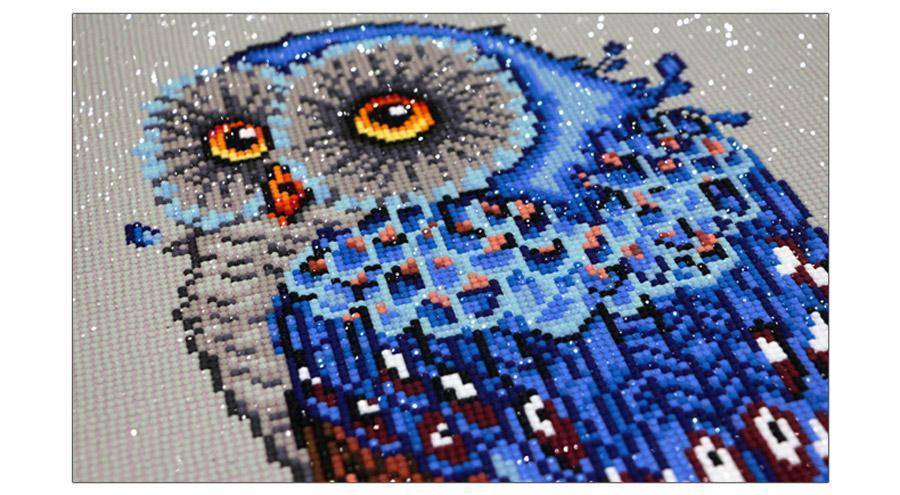 DIY Full Diamond Embroidery Owl