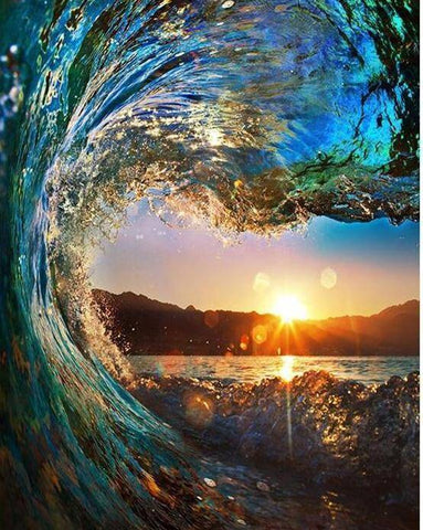 Wave Sunset DIY Painting By Number Kit