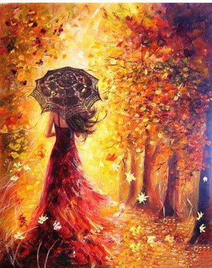 Woman in Autumn DIY Painting By Number Kit
