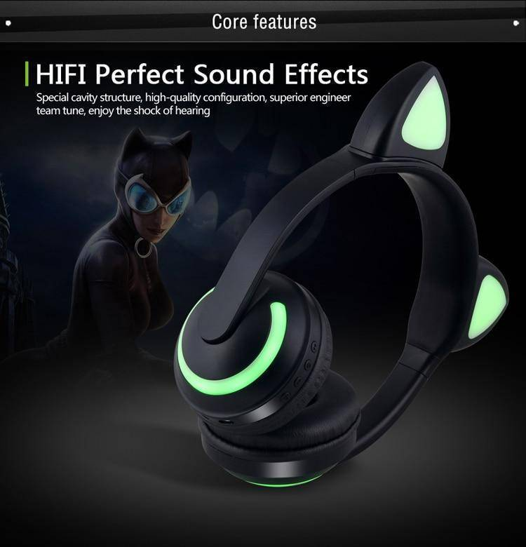 Bluetooth Cat Ear Headphones