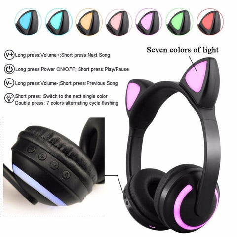 Image of Bluetooth Cat Ear Headphones
