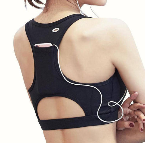 Image of Sports Bra with Back Pocket