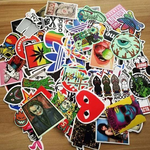 Image of 100 Pieces PVC Waterproof Fun Stickers