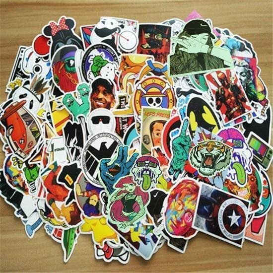 100 Pieces PVC Waterproof Fun Stickers