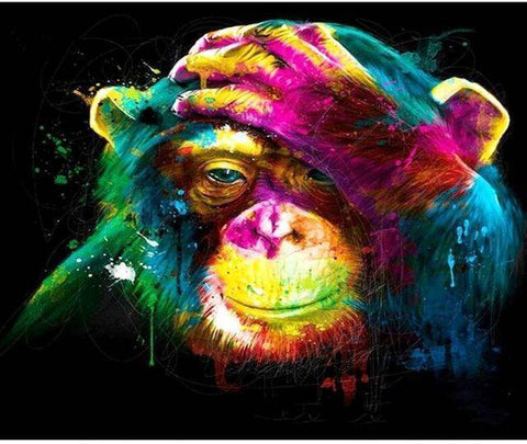 Abstract Monkey DIY Painting By Number Kit