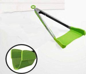 2-in-1 Kitchen Spatula & Tongs Non-stick, Heat Resistant
