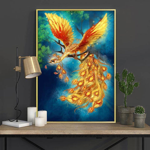 Image of DIY Full Diamond Embroidery Phoenix
