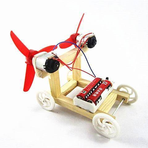 Image of DIY Electric Wind Car Experiment