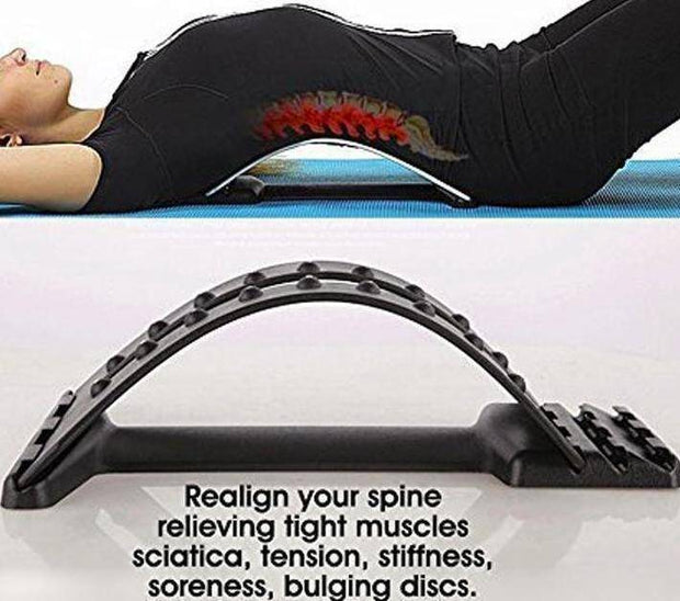 Adjustable Back Stretcher & Traction Massager