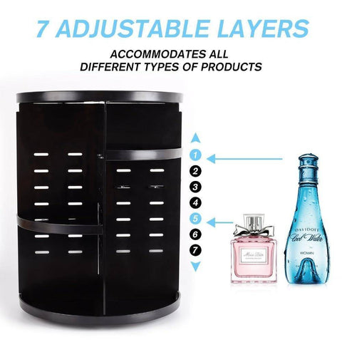 360 Degree Rotating Makeup Organizer
