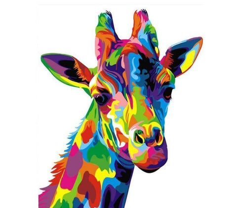 Abstract Giraffe Head DIY Painting By Number Kit