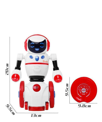 Intelligent Programmable LED Humanoid Robot
